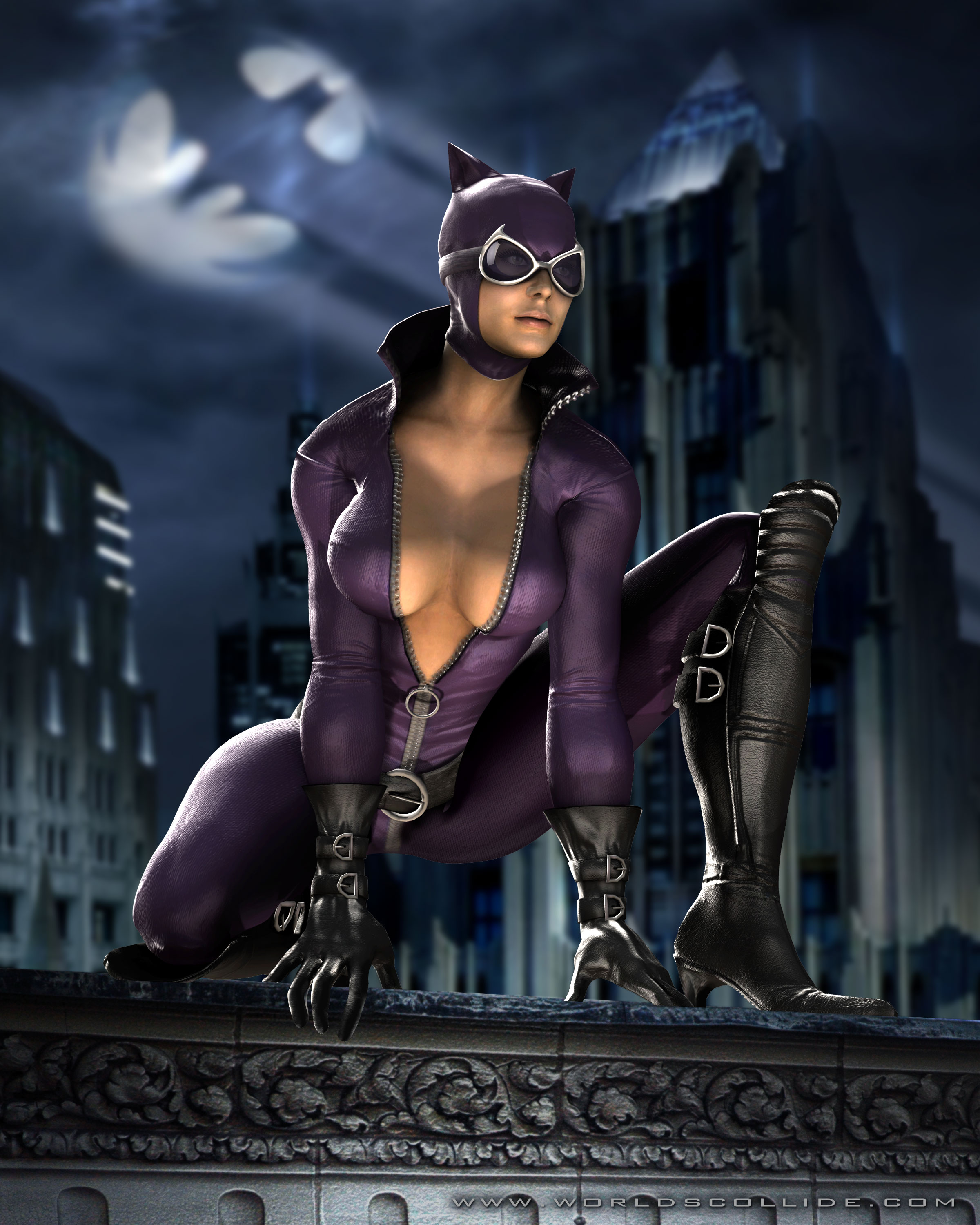 catwoman render tmk Catwoman Featured In Mortal Kombat vs. DC Universe